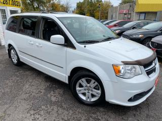 Used 2014 Dodge Grand Caravan CREW/ LEATHER/ SUNROOF/ DUAL DVD/ CAM/ ALLOYS ++ for sale in Scarborough, ON