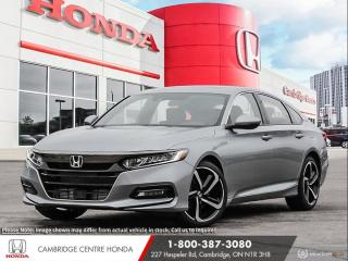 New 2020 Honda Accord Sport 1.5T APPLE CARPLAY™ & ANDROID AUTO™ | HEATED SEATS | HONDA SENSING TECHNOLOGIES for sale in Cambridge, ON