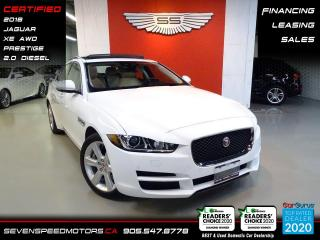 Used 2018 Jaguar XE 20D AWD| ACCIDENT FREE | CERTIFIED | FINANCE @4.65% for sale in Oakville, ON