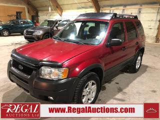 Used 2004 Ford Escape XLT 4D Utility 4WD for sale in Calgary, AB
