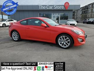 Used 2013 Hyundai Genesis Coupe 6spd Manual! Bluetooth Htd Seat B.C. CAR! NO SNOW! for sale in Winnipeg, MB