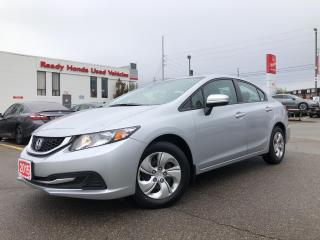 Used 2015 Honda Civic Sedan LX  - Bluetooth - Rear Camera - Heated Seats for sale in Mississauga, ON