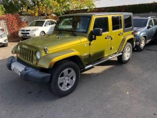 Used 2008 Jeep Wrangler 4WD 4dr Unlimited Sahara /1YEAR WARRANTY INCULDED for sale in Brampton, ON