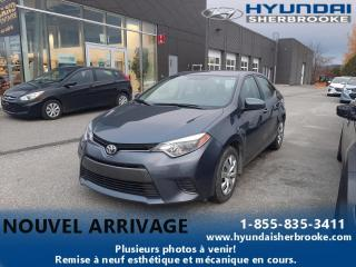 Used 2016 Toyota Corolla LE+CAMERA+BANCS CHAUF+BLUETOOTH+CRUISE for sale in Sherbrooke, QC