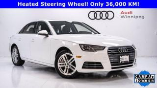 Used 2017 Audi A4 Komfort w/Convenience Package *Low KM* for sale in Winnipeg, MB