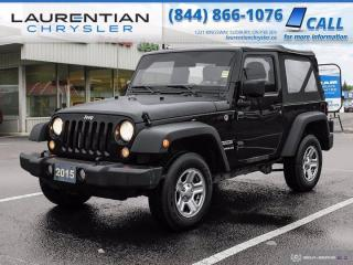 Used 2015 Jeep Wrangler Sport!!  5 SPEED MANUAL !! 4WD !! for sale in Sudbury, ON