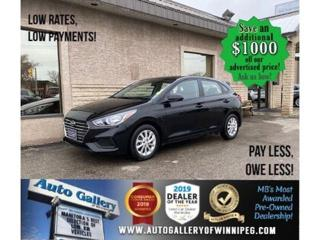 Used 2019 Hyundai Accent Preferred* B.tooth/B.cam/Htd seats/H.back for sale in Winnipeg, MB