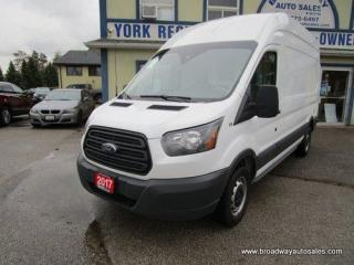 Used 2017 Ford Transit 250 CARGO MOVING 250-EDITION 2 PASSENGER 3.7L - V6.. EXTENED-CARGO.. HIGH-ROOF-BOX.. SLIDING PASSENGER DOOR.. LEATHER.. BACK-UP CAMERA.. for sale in Bradford, ON