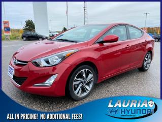 Used 2016 Hyundai Elantra GLS Auto - Low kms for sale in Port Hope, ON