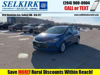 Used 2019 Chevrolet Cruze LT True North Edition  - Apple CarPlay for sale in Selkirk, MB