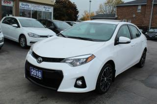 Used 2016 Toyota Corolla S Sunroof Leather for sale in Brampton, ON