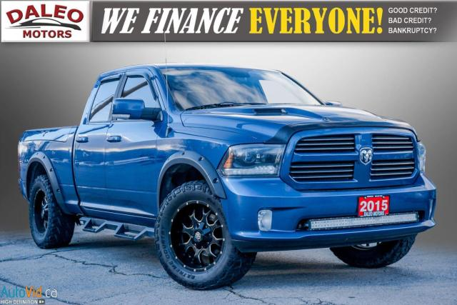 2015 RAM 1500 SPORT / REMOTE START / LEATHER / MOONROOF / CAM /
