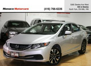 Used 2015 Honda Civic EX - SUNROOF|BACKUP CAMERA|SIDE CAMERA|ALLOYS for sale in North York, ON
