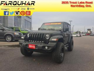 Used 2019 Jeep Wrangler Sport S - Heated Seats - $238 B/W for sale in North Bay, ON