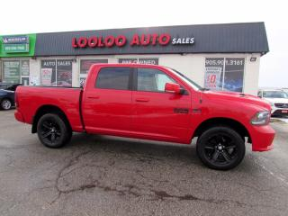 Used 2016 RAM 1500 Sport Crew Cab 4WD 5.7L Hemi Navigation Camera Certified for sale in Milton, ON