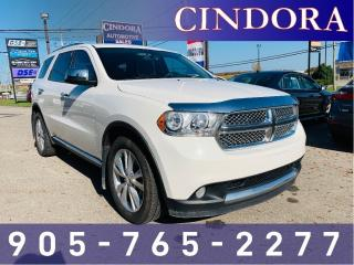 Used 2012 Dodge Durango SXT, 7 Passenger, Heated Seats, Clean Carfax for sale in Caledonia, ON