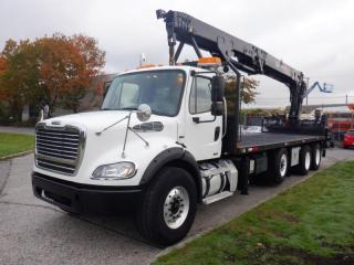 Used 2012 Freightliner M2 112 Business Class Diesel 24 Foot Triple Axle Flat Deck With Crane And Airbrakes Manual for sale in Burnaby, BC