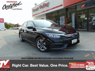 Used 2016 Honda Civic Sedan LX 6MT (1) Owner, Extended Warranty for sale in Peterborough, ON