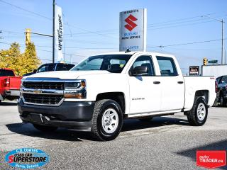 Used 2017 Chevrolet Silverado 1500 WT Crew Cab 4x4 ~Trailer Tow ~Power Windows/Locks for sale in Barrie, ON