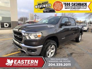 New 2020 RAM 1500 Big Horn | 4G LTE Wi-Fi Hot Spot | Remote Start | Backup Cam | for sale in Winnipeg, MB