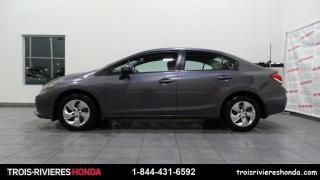 Used 2015 Honda Civic LX + BLUETOOTH + CAMERA RECUL + A/C ! for sale in Trois-Rivières, QC