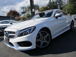 Used 2017 Mercedes-Benz C-Class C300 4MATIC COUPE 360CAM NAVIGATION 28KM PANORAMA for sale in Burlington, ON