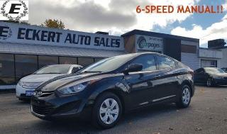 Used 2016 Hyundai Elantra L/ 6-SPEED MANUAL/LOW LOW KILOMETERS!! for sale in Barrie, ON