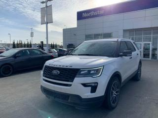 Used 2018 Ford Explorer SPORT AWD/7PASS/LEATHER/NAV/PANOROOF/BACKUPCAM for sale in Edmonton, AB
