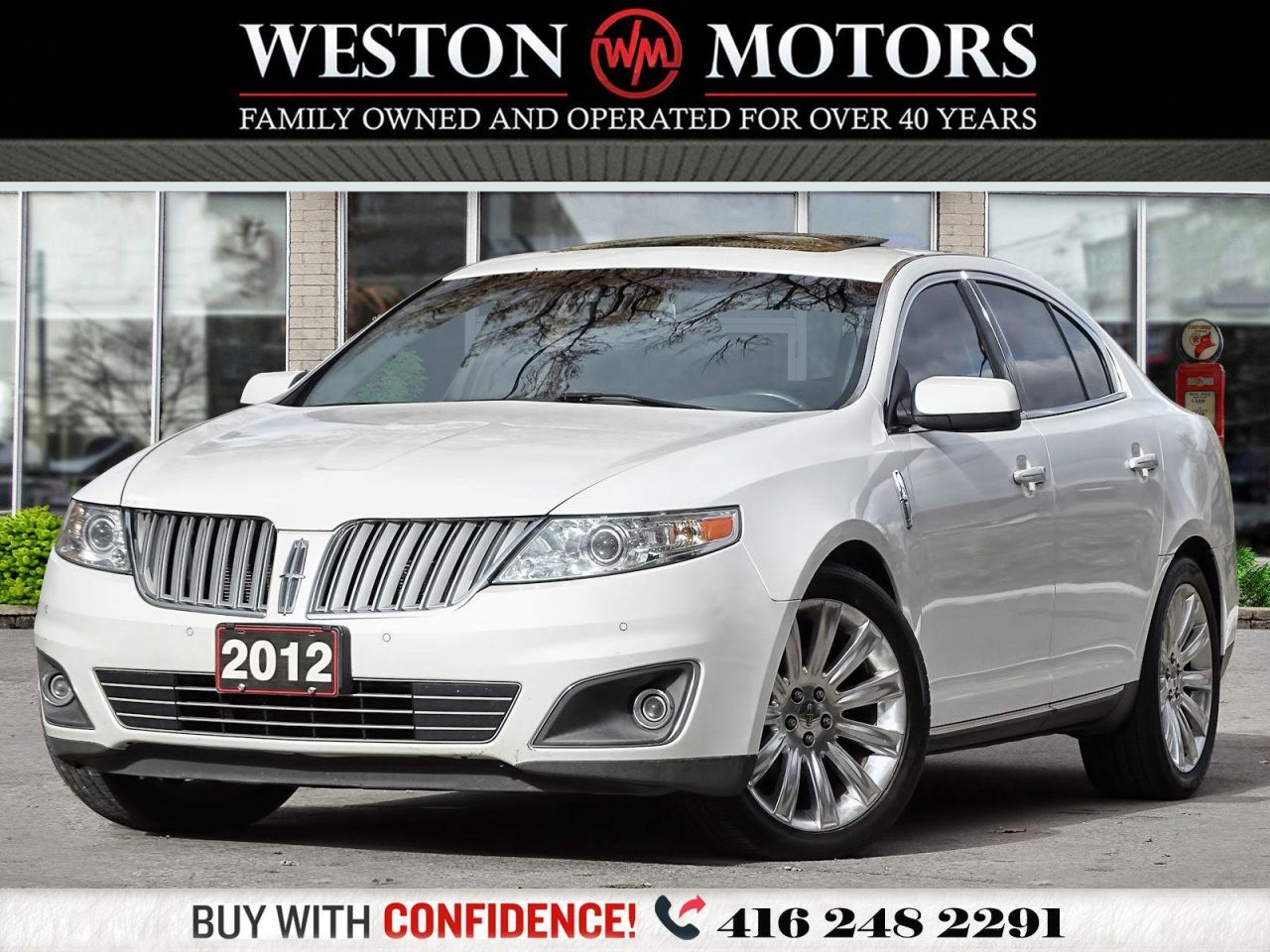 2012 Lincoln MKS AWD*LEATHER*PANROOF*NAVI*REVCAM!!*