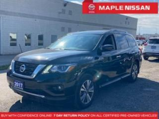 Used 2017 Nissan Pathfinder SL 4WD Blind Spot 360 Cam Navi Dual Moonroof for sale in Maple, ON