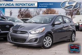 Used 2016 Hyundai Accent GL 5 PORTES**A/C, BLUETOOTH, GROUPE ÉLECTRIQUE** for sale in Repentigny, QC