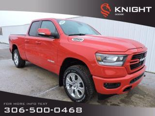 New 2020 RAM 1500 Big Horn Sport Quad Cab 4x4 HEMI | B/U Camera | Remote Start | Heat Seats/Steering Wheel for sale in Swift Current, SK