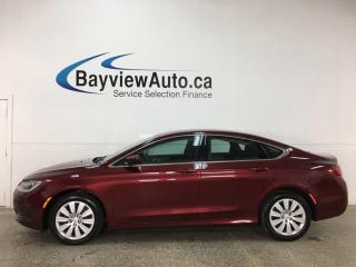 Used 2015 Chrysler 200 LX - AUTO! BLUETOOTH! FULL PWR GROUP! ONLY 48,000KMS! for sale in Belleville, ON