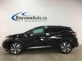 Used 2018 Nissan Murano Platinum - AWD! LEATHER! NAV! SUNROOF! LOADED! for sale in Belleville, ON