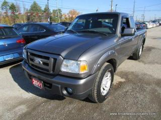 Used 2011 Ford Ranger 5-SPEED MANUAL SPORT-EDITION 5 PASSENGER 4.0L - V6.. 4X4 SYSTEM.. EXTENDED-CAB.. SHORTY.. CD/AUX INPUT.. AIR CONDITIONING.. for sale in Bradford, ON