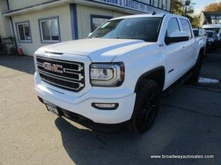 Used 2018 GMC Sierra 1500 LIKE NEW ELEVATION-SLE-MODEL 5 PASSENGER 5.3L - VORTEC.. 4X4.. CREW-CAB.. SHORTY.. HEATED SEATS.. TRAILER BRAKE.. BACK-UP CAMERA.. BLUETOOTH.. for sale in Bradford, ON