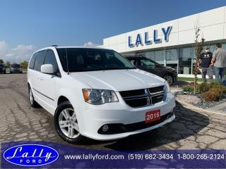 Used 2016 Dodge Grand Caravan Crew, Power Doors, Stow and go, Local Trade!! for sale in Tilbury, ON