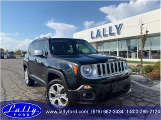Used 2017 Jeep Renegade Limited, 4x4, Leather, Nav!! for sale in Tilbury, ON