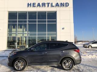 Used 2017 Hyundai Santa Fe Sport 2.0T Limited AWD | LEATHER | PANORAMIC SUNROOF | HEATED/COOLED SEATS | HEATED STEERING WHEEL-USED HYUNDAI DEALER for sale in Fort Saskatchewan, AB