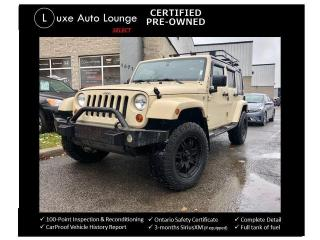 Used 2011 Jeep Wrangler SAHARA, TRAIL RATED 4X4, 6-SPEED, LEATHER, NAV!! for sale in Orleans, ON