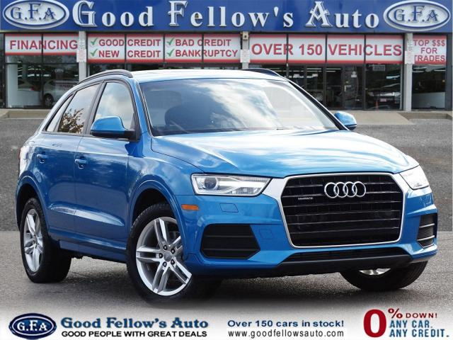 2017 Audi Q3 KOMFOTR, QUATTRO, LEATHER & MEMORY SEATS, SUNROOF