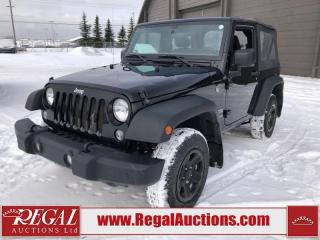 Used 2017 Jeep Wrangler Sport 2D Utility 4WD 3.6L for sale in Calgary, AB