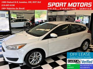 Used 2016 Ford Focus SE+Camera+Heated Seats & Steering+AC+ACCIDENT FREE for sale in London, ON