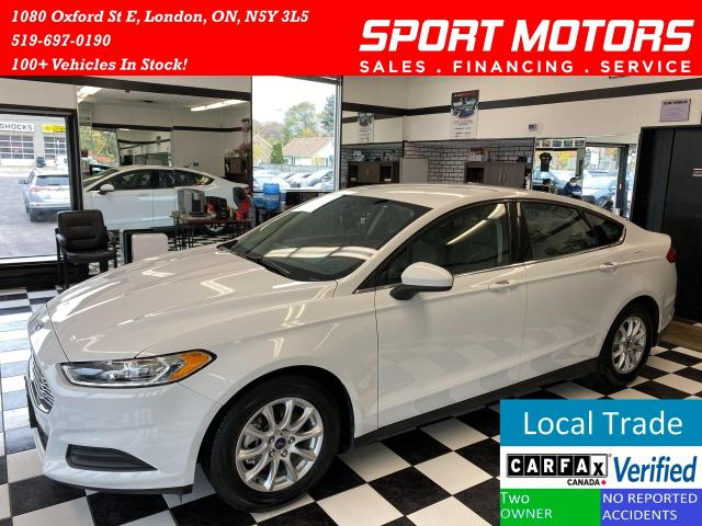 2015 Ford Fusion S+Camera+Bluetooth+New Dunlop Tires+ACCIDENT FREE