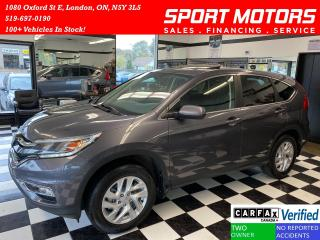 Used 2016 Honda CR-V EX AWD+New Brakes+Sunroof+Camera+ACCIDENT FREE for sale in London, ON