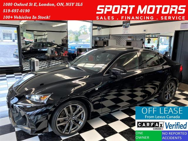 2018 Lexus IS IS300 AWD F SPORT+RedLeather+LaneKeep+ACCIDENT FRE