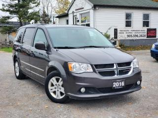 Used 2016 Dodge Grand Caravan 1-Owner NoAccidents Crew+ NaviStowNGoLeatherHeatedBckpCam for sale in Sutton, ON