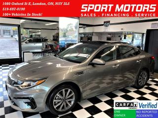 Used 2019 Kia Optima EX Tech+CooledSeats+PanoRoof+Carplay+ACCIDENT FREE for sale in London, ON