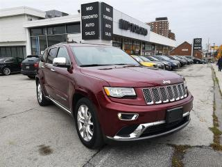 Used 2016 Jeep Grand Cherokee Summit - Power Roof - Navigation - Adaptive Cruise -  Blind Spot Monitoring - No Accidents for sale in North York, ON