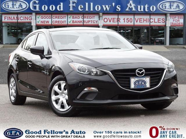 2016 Mazda MAZDA3 GX MODEL, 2.0L SKYACTIV, REARVIEW CAMERA, SPORT